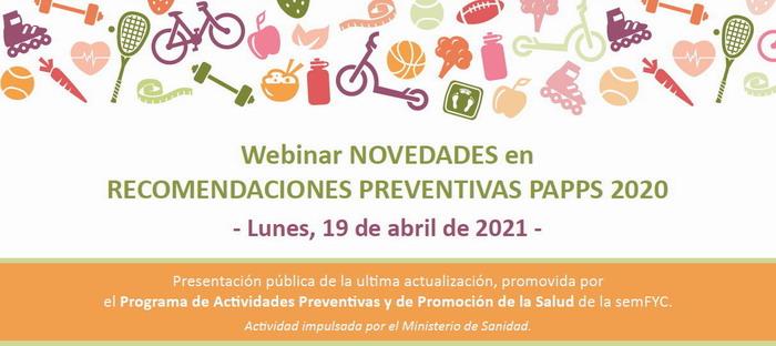 Webinar Novedades en recomendaciones preventivas PAPPS 2020